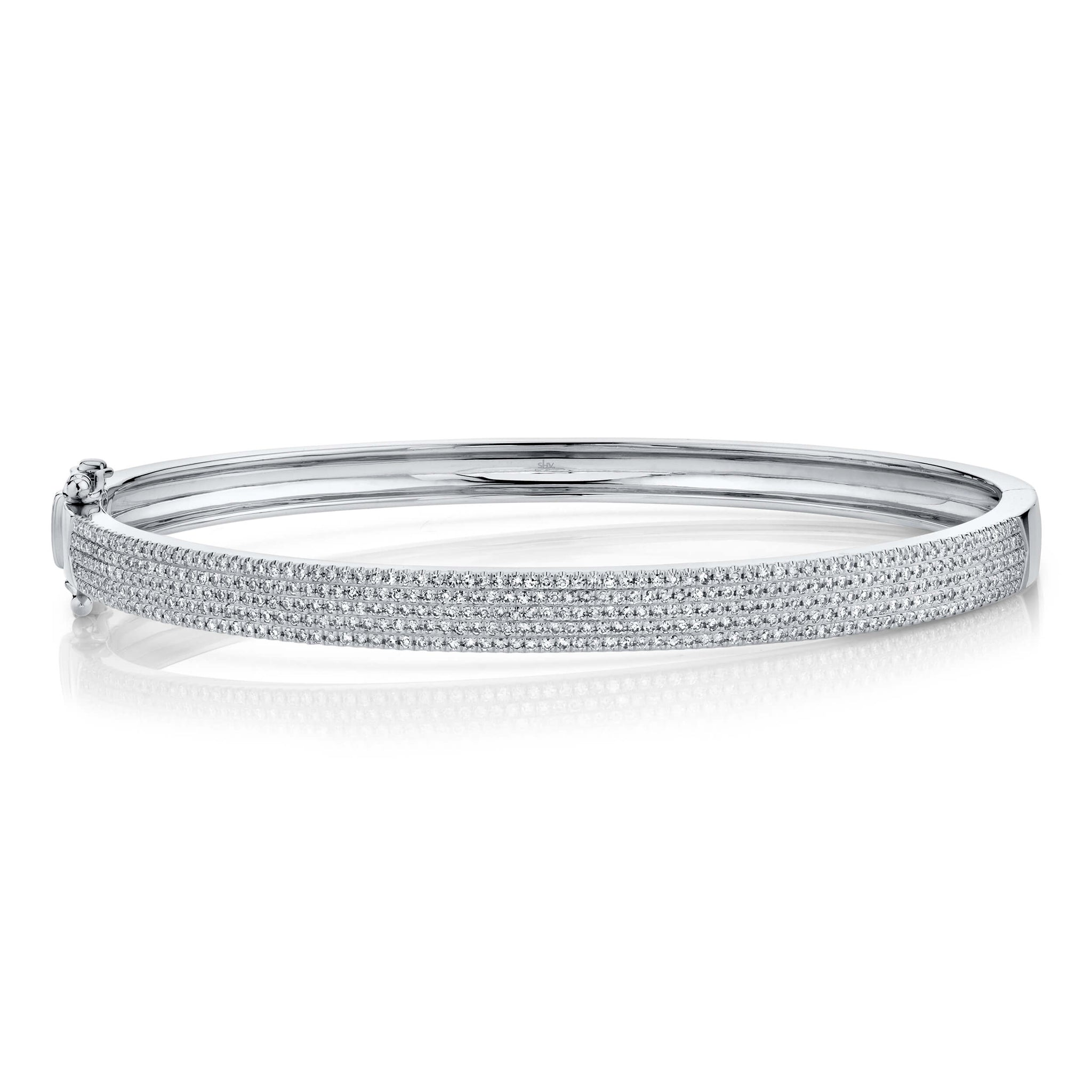 Five Row Pave Bangle