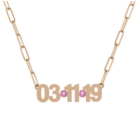 Gold Date Necklace