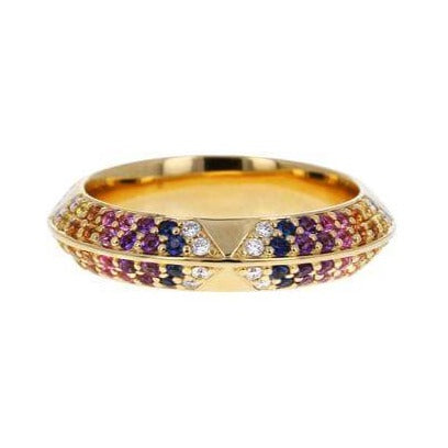 Colorful Pave Rosa Band