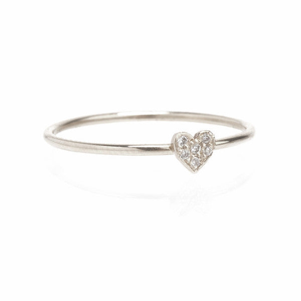 Itty Bitty Pave Heart Ring