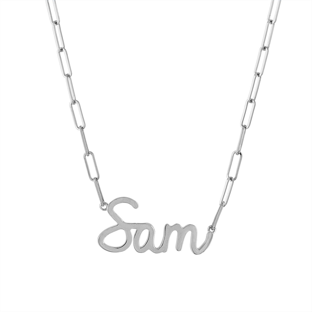Jumbo Gold Script Name Necklace