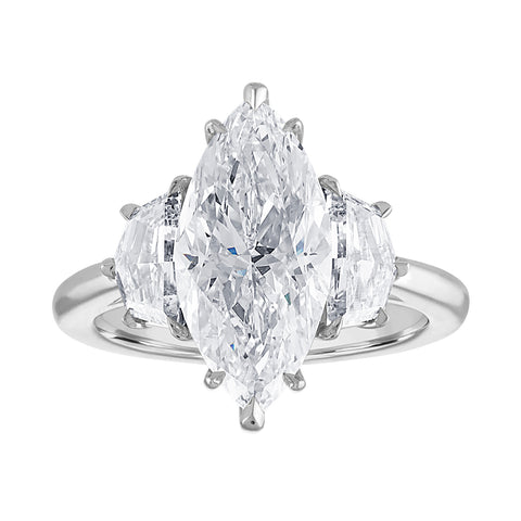 Marquise Engagement Ring with Cadillacs