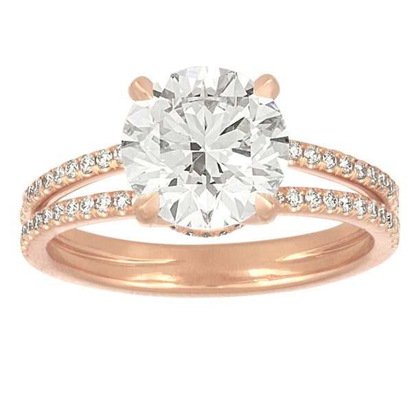 Signature Pave Split Shank Engagement Ring