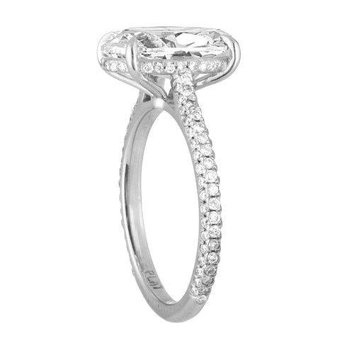 Three-Sided Pave Engagement Ring