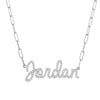 Diamond Jumbo Script Name Necklace