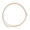 Double Wrap Charm Anklet-Necklace