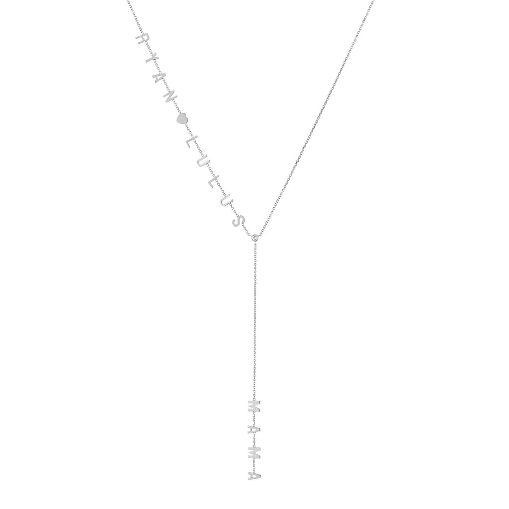 Two Name MAMA Lariat Necklace