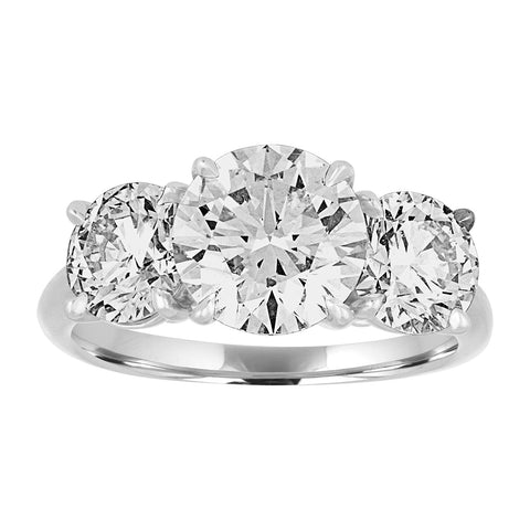 Three Stone Round Brilliant Engagement Ring