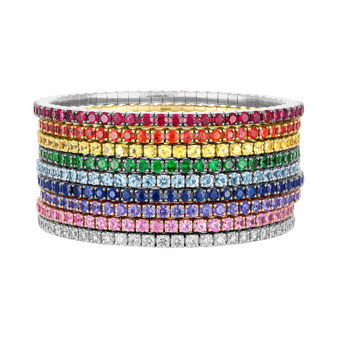 Rainbow Stretch Tennis Bracelet