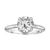 Solitaire Engagement Ring With Hidden Wrap Detail