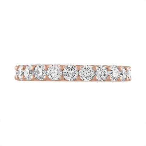 Round Diamond Scalloped Eternity Band