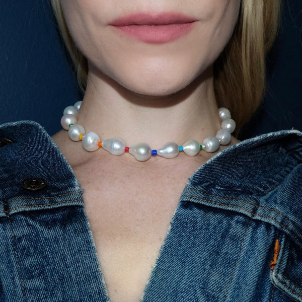 Baroque Pearl Collar Necklace