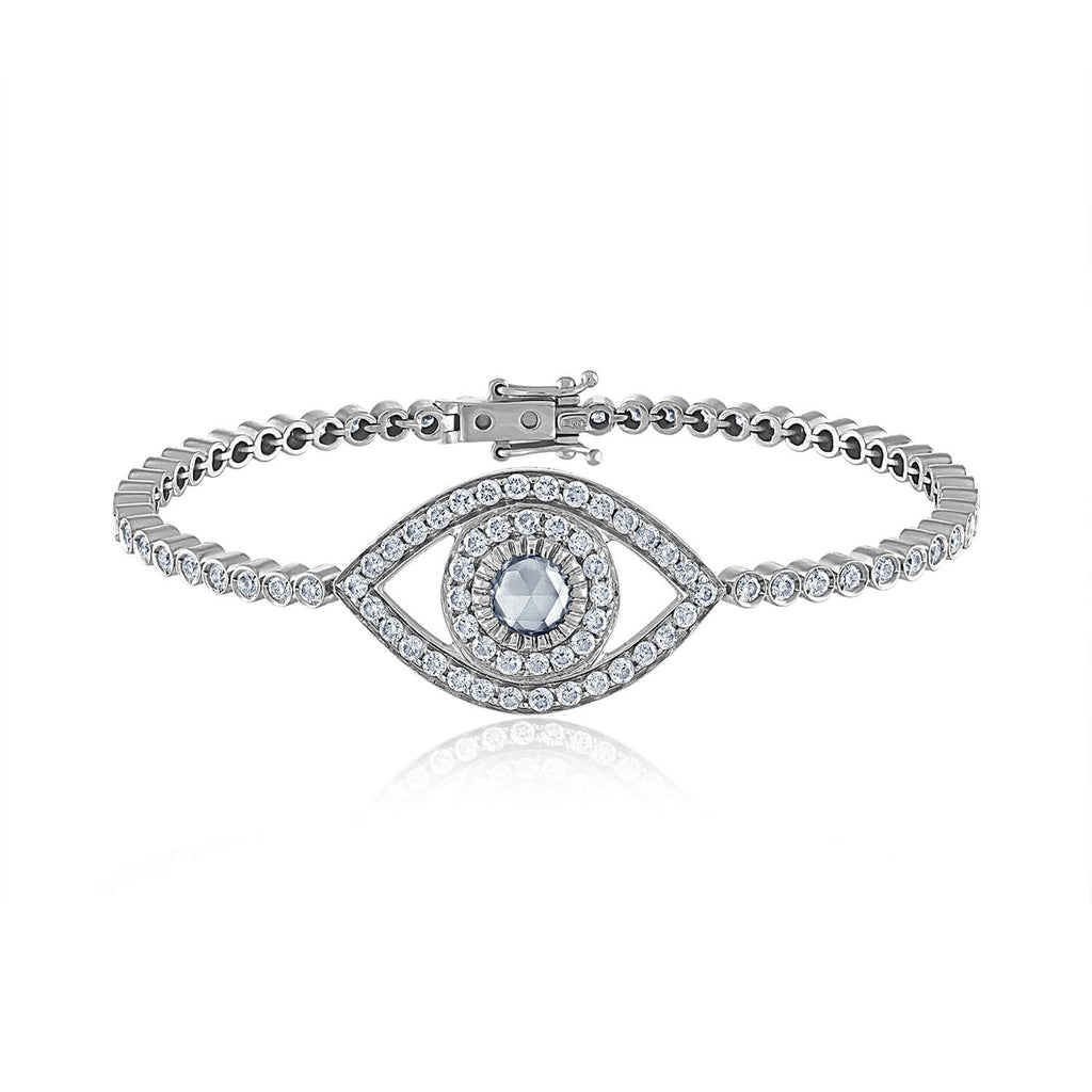 Big Diamond Eye Tennis Bracelet
