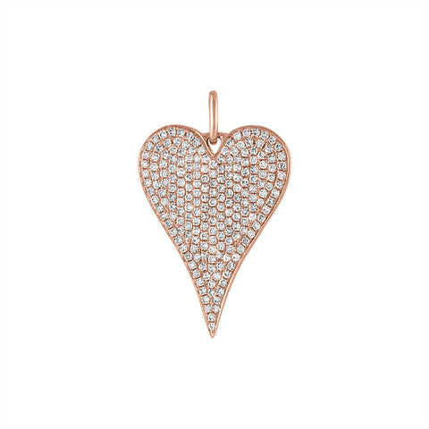 Diamond Heart Charm