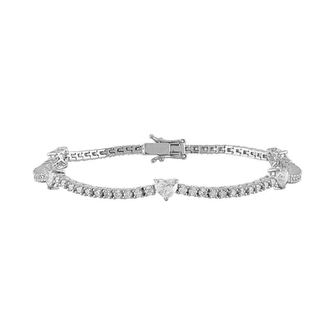 Heart Shape Tennis Bracelet