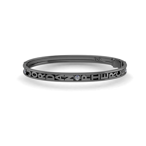 Black Rhodium Mini Slider Bangle