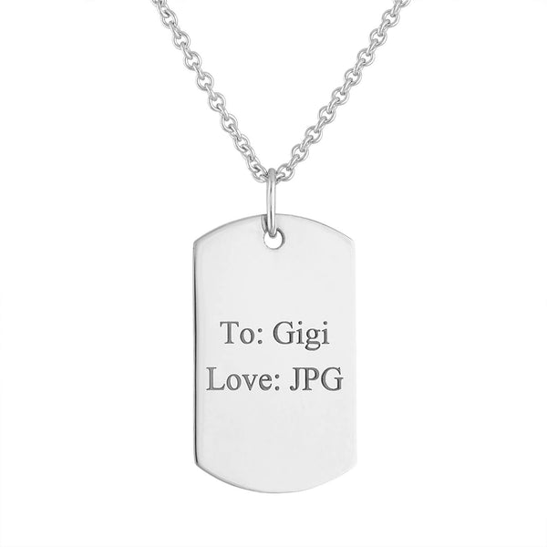 Photo Dog Tag Charm