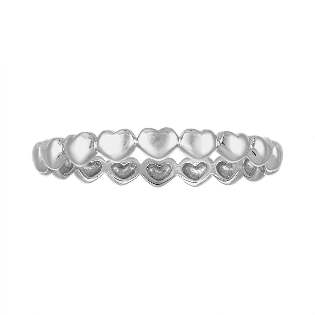 Gold Eternity Hearts Ring