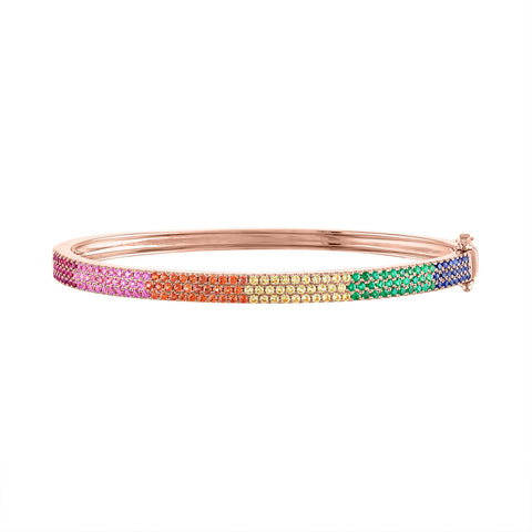 Rainbow Pave Bangle