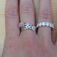 Diamond Initial Stack Bands