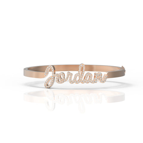Jumbo Pave Name Bangle