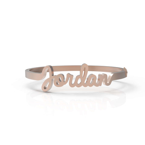 Jumbo Gold Name Bangle