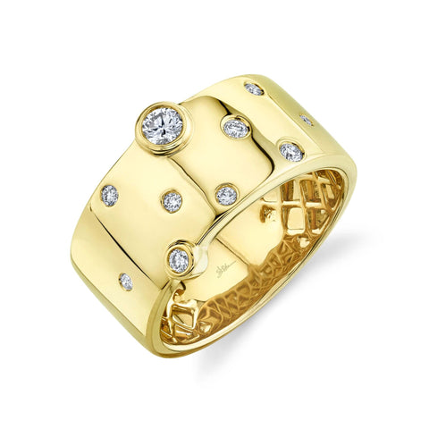 IN STOCK - The Leslie Band Yellow Gold Size 7
