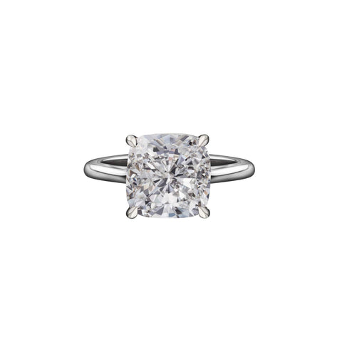 3.90 Carat Cushion Cut Solitaire Engagement Ring