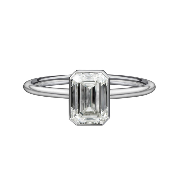 1.52 Carat Emerald Cut Solitaire Engagement Ring