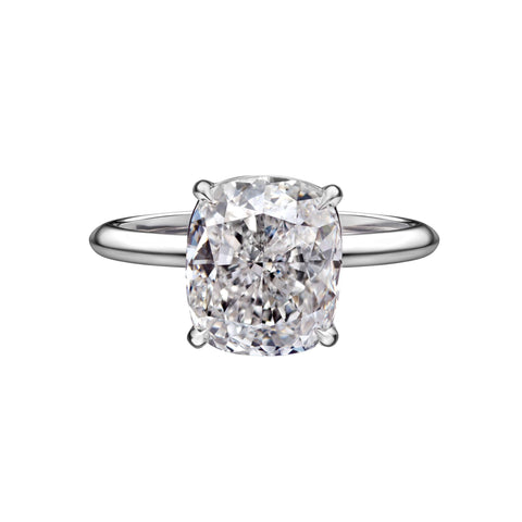 3.09 Carat Solitaire Cushion Cut Engagement Ring