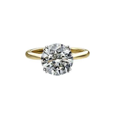 3.50 Carat Round Brilliant Cut Solitaire Engagement Ring
