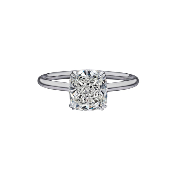2.02 Carat Cushion Cut Solitaire Engagement Ring