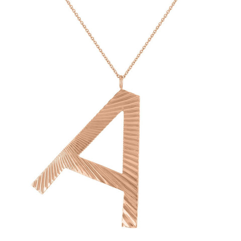 Jumbo Textured Initial Necklace