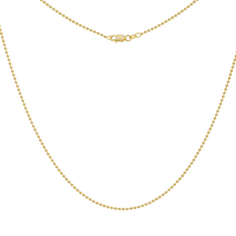 Medium Gold Bead Chain Necklace