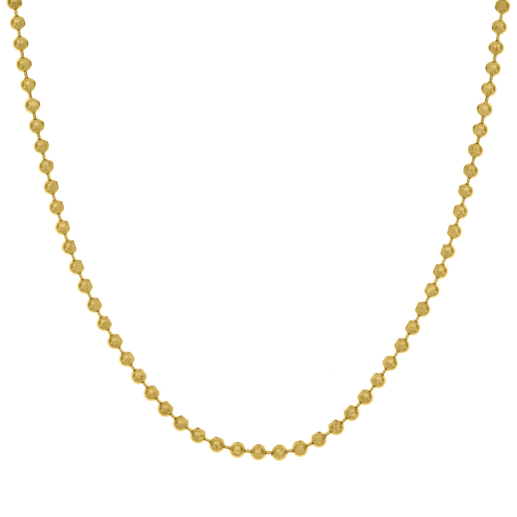 Large Gold Bead Chain Necklace