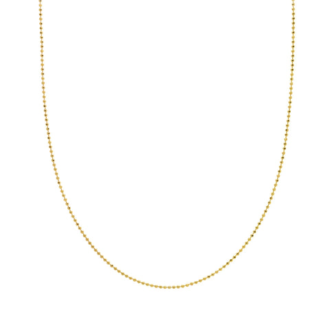 Small Gold Bead Necklace