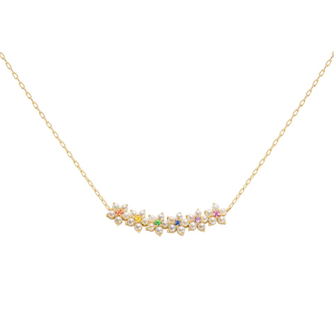 Rainbow Floral Necklace