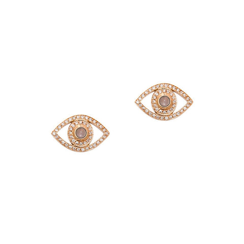 Mini Diamond Eye Earrings