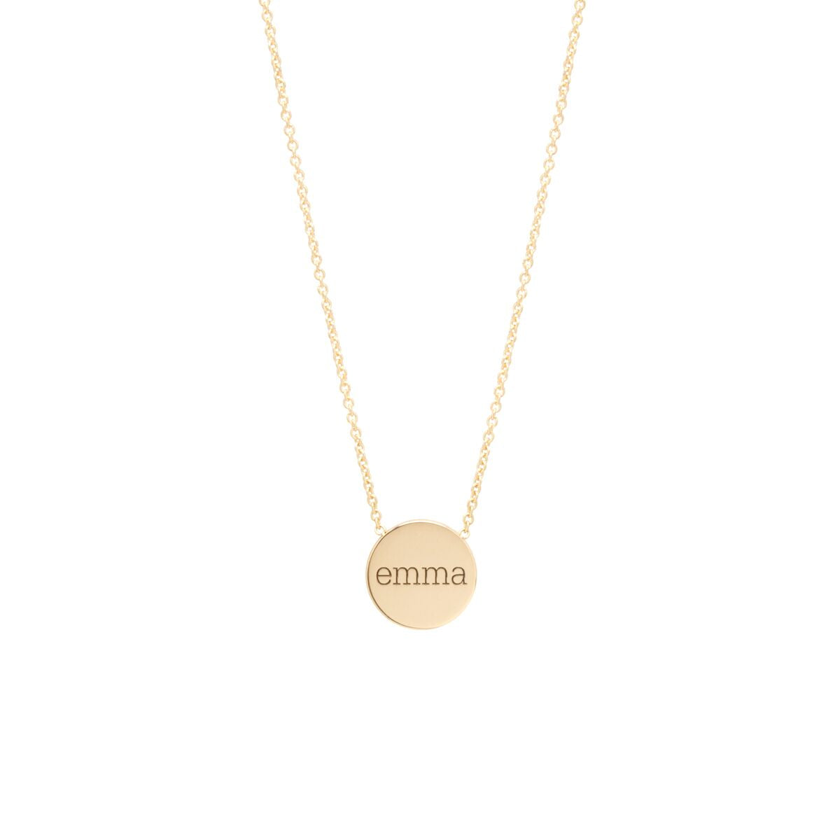 Personalized gold disc necklace stephanie gottlieb fine jewelry personalized gold disc necklace aloadofball Gallery