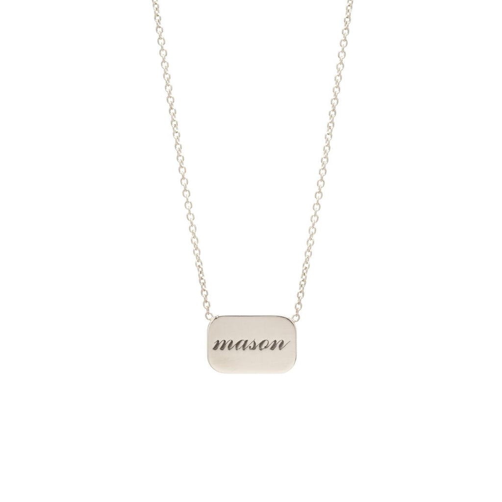 Personalized Rounded Rectangle Necklace