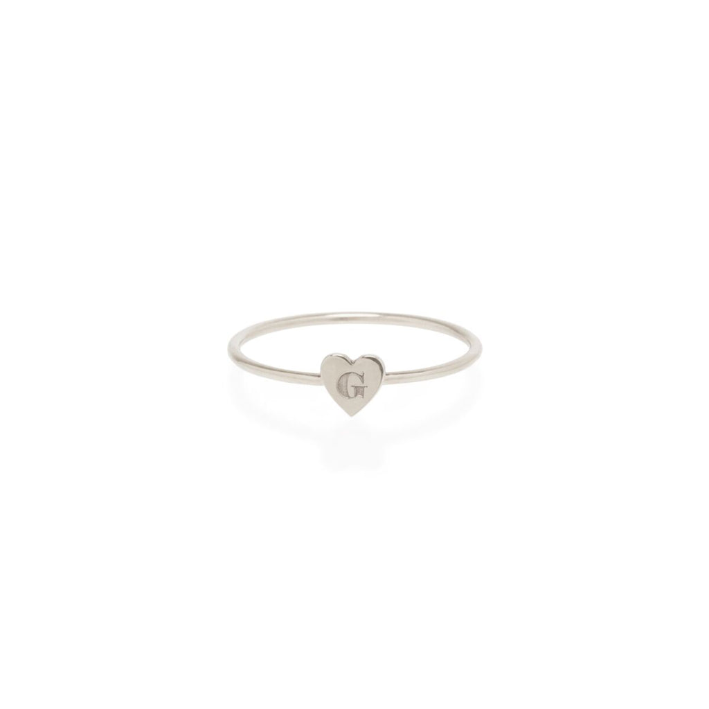 Tiny Engraved Heart Ring
