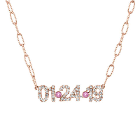 Pave Date Necklace