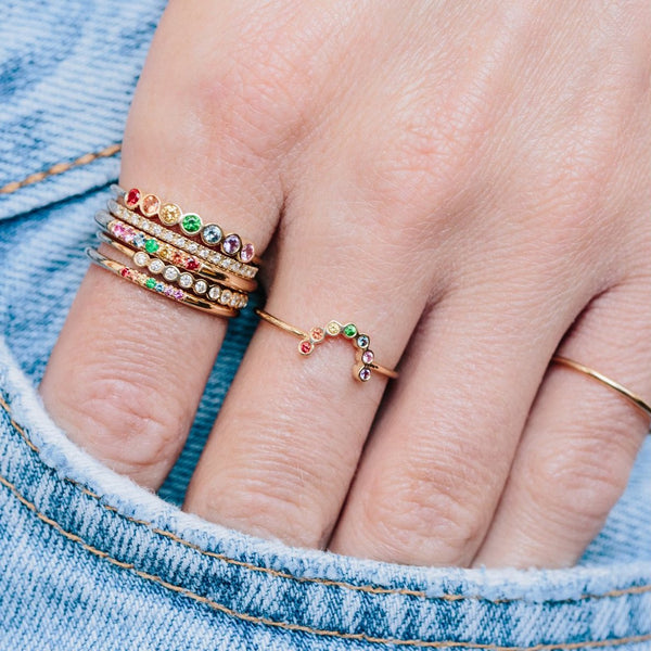 Mini Rainbow Arc Ring
