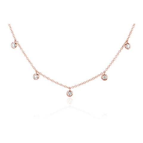 5 Diamond Bezel Choker