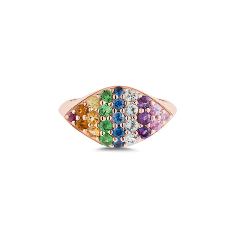 Rainbow Gemma Ring