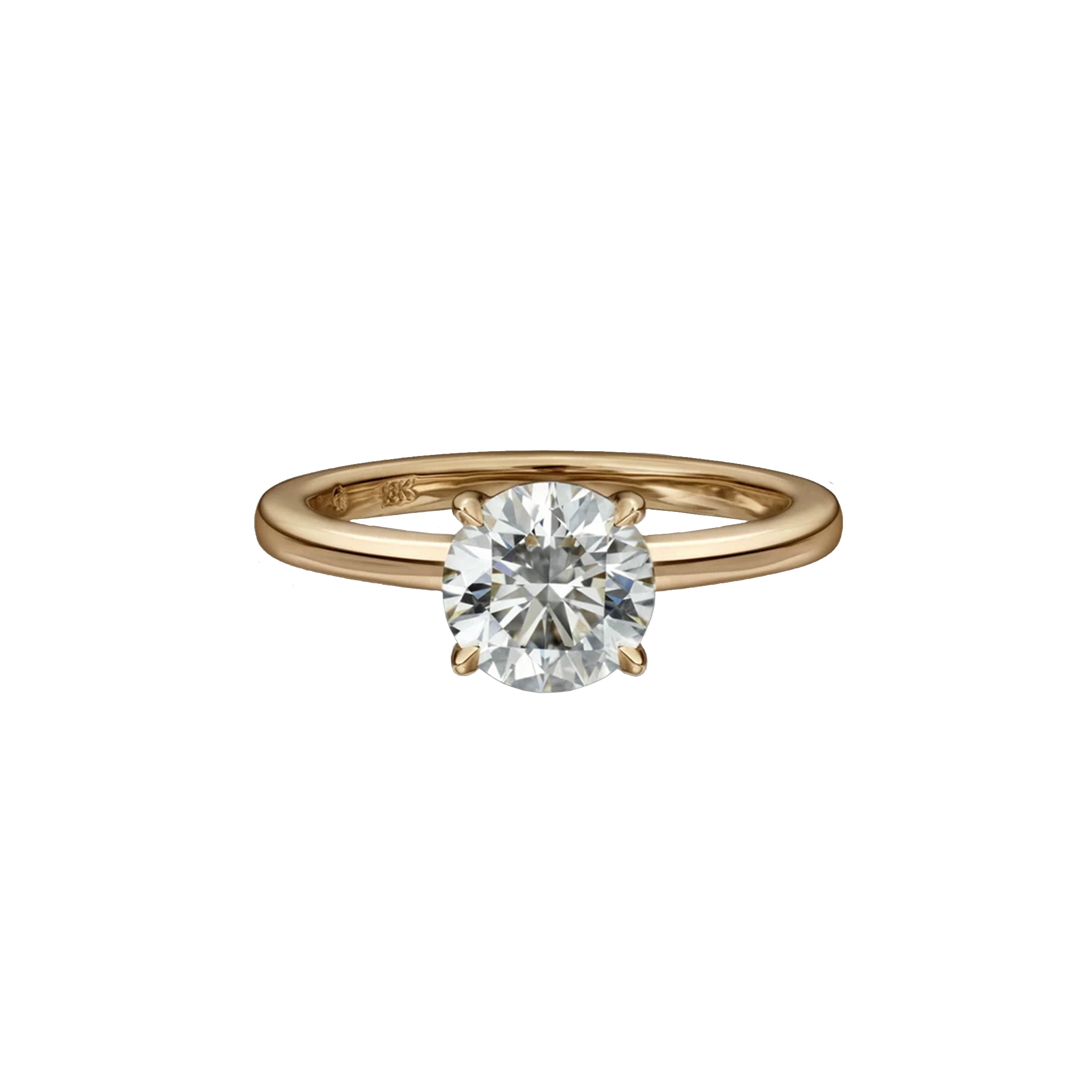 1.22 Carat Round Brilliant Cut Solitaire Engagement Ring