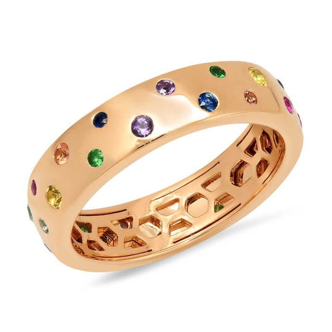 Multi Colored Polka Dot Ring