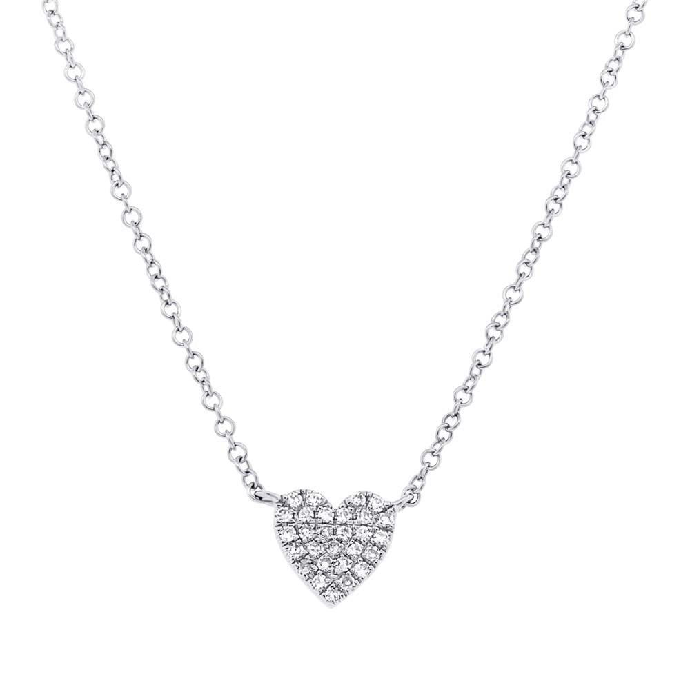 heart brushed necklace jewellery product wid