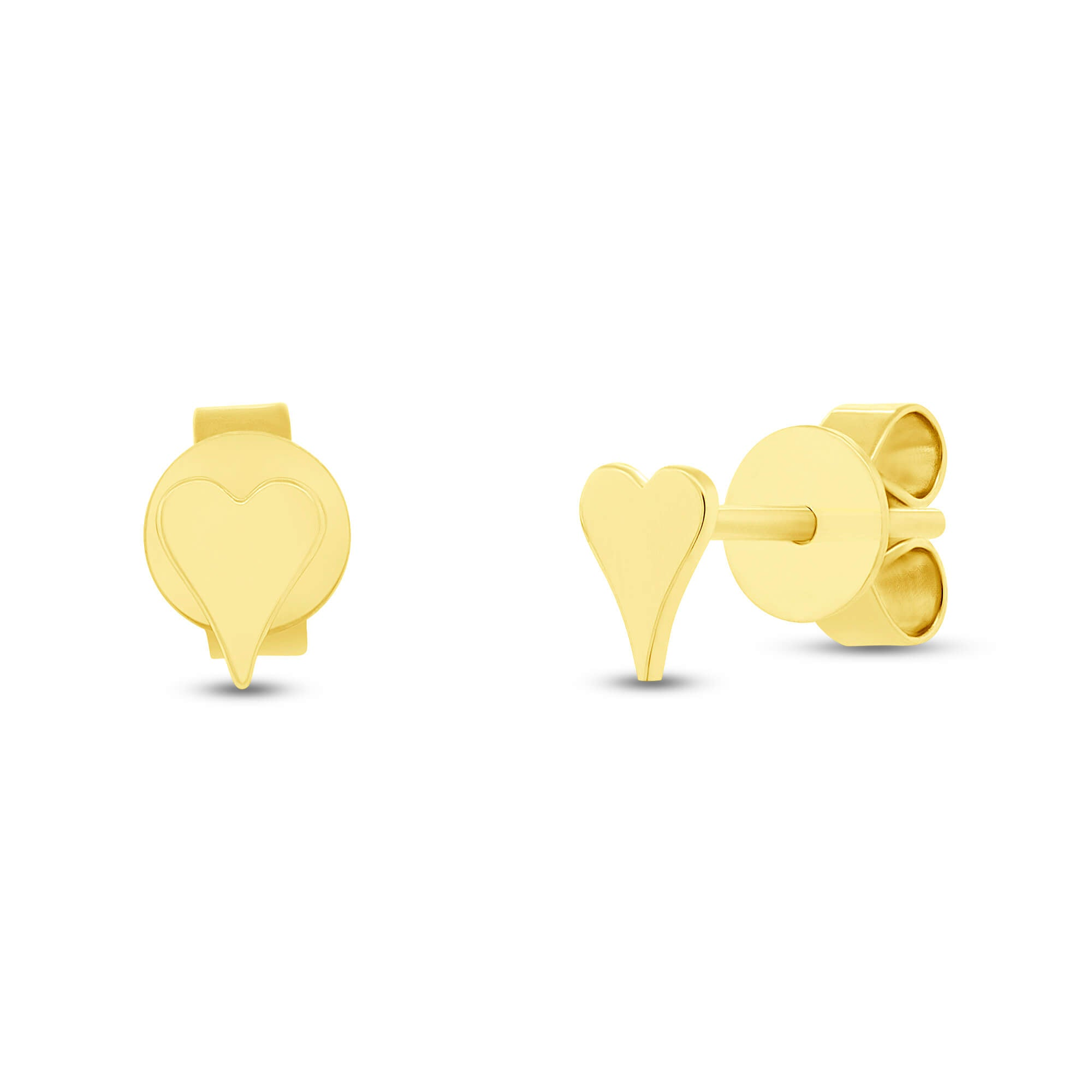Gold Mini Heart Studs