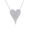 Medium Pave Heart Necklace